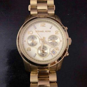 Michael Kors Gold Chronograph Runway Watch